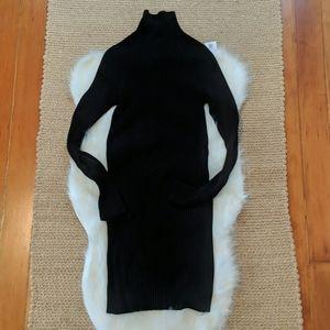 Forever 21 knit dress midi dress in black - medium